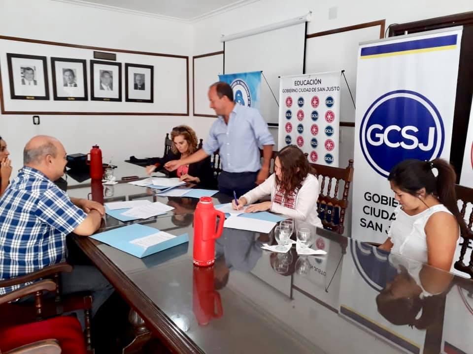 Firmamos convenio con ISP Nº 20 y Municipio de San Justo